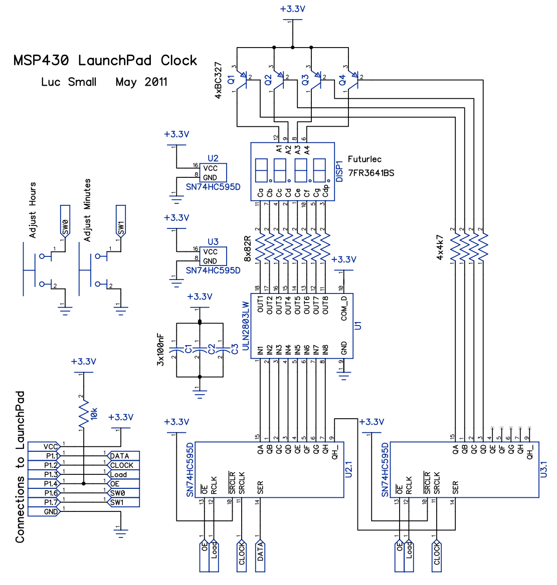 20130507 msp430 launchpad clock circuit msp430 launchpad clock lucsmall com Basic Electrical Wiring Diagrams at crackthecode.co