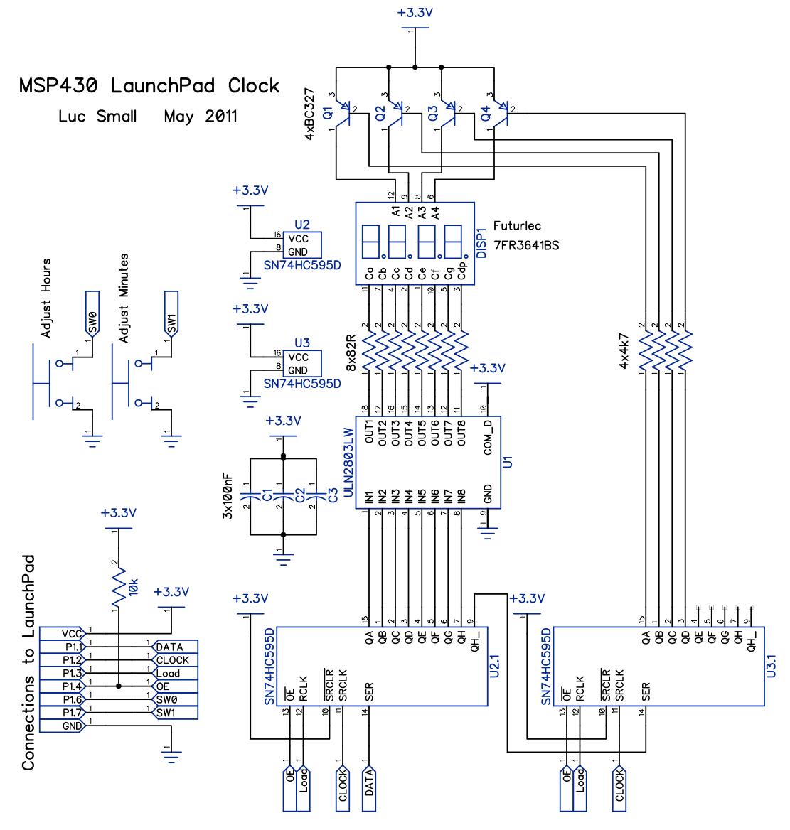 Msp430 Launchpad Clock 7 Segment Display Block Diagram The