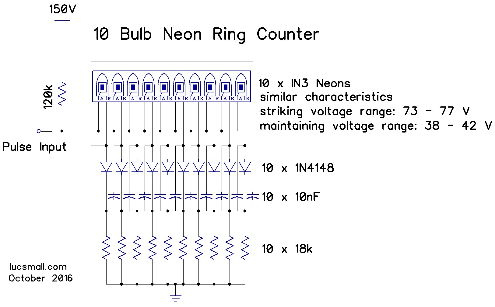 Neon Ring Counters Lucsmall. Ring Counter Circuit