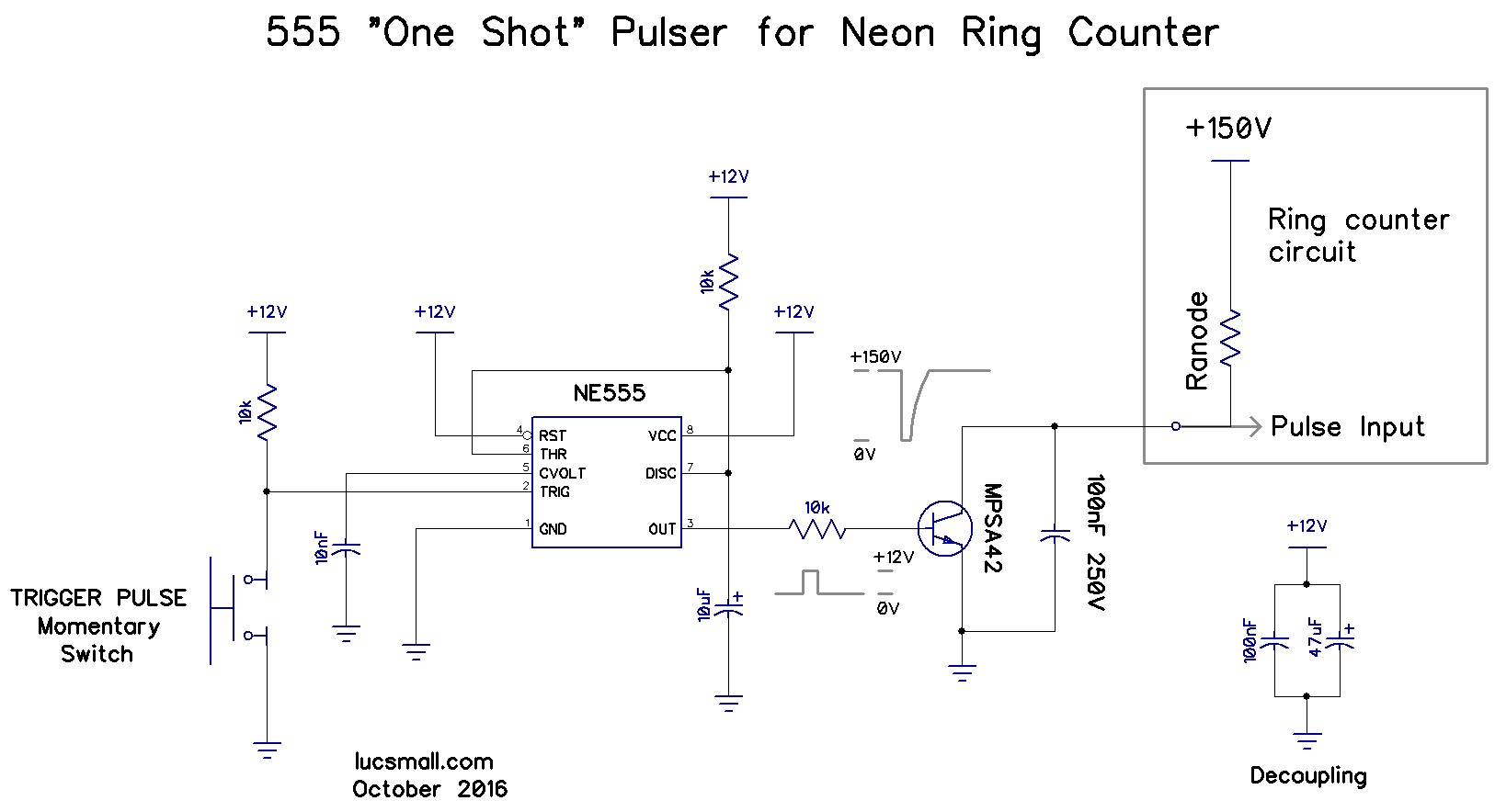 Neon ring counters lucsmall continuous pulsing circuit ccuart Image collections