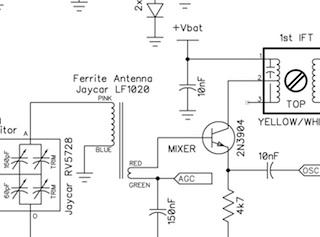 schematic diagram of cmc 707 am radio receiver am superhet radio - lucsmall.com